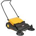 "Industrial Push Sweeper 32"" Cleaning Width Black and Yellow"