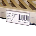 """Label Holder, 3"""" x 1-5/16"""", Clear, 25/Pk"""