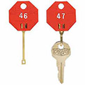 MMF Self-Locking Key Tags Octagonal 20 Pack, Red