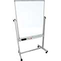 "Mobile Double Sided Magnetic Whiteboard, 36"" x 48"""