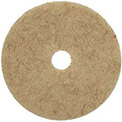 "20"" CocoPad Coconut Fiber Burnishing Pad, Medium to High Freq., 5/Pk"