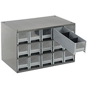 "AKRO-MILS Industrial Parts Cabinet - 17x11x11"" - (15) 3-1/8 x10-1/2x3"" Drawers"