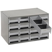 "AKRO-MILS Industrial Parts Cabinet - 17x11x11"" - (16) 4x10-1/2x2-1/8"" Drawers"