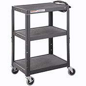 Steel Audio Visual & Instrument Cart - Black