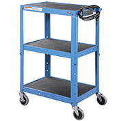 Steel Audio Visual & Instrument Cart Blue