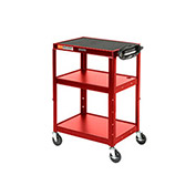 Steel Audio Visual & Instrument Cart Red