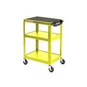Steel Audio Visual & Instrument Cart Yellow
