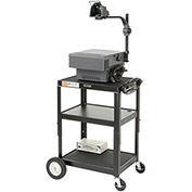 "LUXOR | H. WILSON Duraweld Adjustable-Height Cart - Two 4"" Swivel Casters, Two 8"" Wheels"
