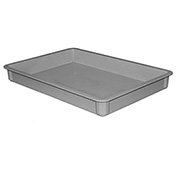 "Molded Fiberglass Toteline Stacking Tote 8700085136 - 25-3/4""L x 17-3/4""W x 3""H, Gray - Pkg Qty 6"