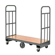 Wood Deck Narrow Aisle High End U-Boat Platform Truck 60 x 16 1500 Lb. Capacity