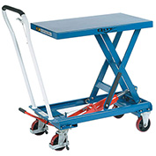 Mobile Scissor Lift Table 550 Lb. Capacity, 32 x 19 Platform, Single Scissor