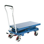 Mobile Scissor Lift Table, 39 x 20 Platform, 660 Lb. Capacity, Double Scissor