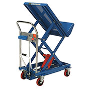 Mobile Lift & Tilt Scissor Lift Table 400 Lb. Capacity - 29 x 19 Platform