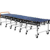 "24""W Portable Flexible & Expandable Conveyor, Nylon Skate Wheels, 6'2"" to 24'8"""
