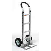 Aluminum Hand Truck Curved Handle, Semi-Pneumatic Wheels