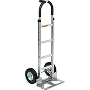 Aluminum Hand Truck Pin Handle, Semi-Pneumatic Wheels