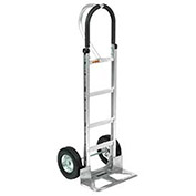 Aluminum Hand Truck Loop Handle, Semi-Pneumatic Wheels