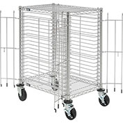 "End Load Wire Tray Cart with 19 Tray Capacity, 30""L x 21""W x 40""H"