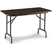 "Correll Melamine Top Folding Table, 36"" x 96"", Walnut"