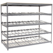 "4 Level Single Depth Gravity Flow Carton Rack, 96""W x 48""D x 84H"""