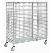 Wire Security Storage Truck, 48 x 24 x 69, 1200 Lb. Capacity