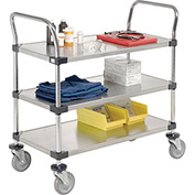 Stainless Steel Utility Cart, 3 Shelves, 36x24x38