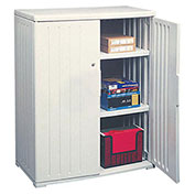 Iceberg Plastic Storage Cabinet, Light Gray, 36x22x46