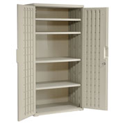 Iceberg Plastic Storage Cabinet, Light Gray, 36x22x72