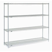 "Chrome Wire Shelving, 72""W X 14""D x 63""H"