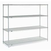 "Chrome Wire Shelving, 72""W X 36""D x 63""H"