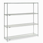 "Chrome Wire Shelving, 72""W X 14""D x 74""H"
