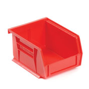 "AkroBin® Plastic Stacking Bin, 4-1/8""W x 5-3/8""D x 3""H, Red - Pkg Qty 24"