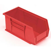"Plastic Stacking BiN, 5-1/2""W x 10-7/8""D x 5""H, Red - Pkg Qty 12"