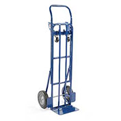 Steel 2-in-1 Convertible Hand Truck with Semi-Pneumatic Wheels