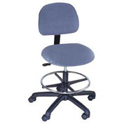 Standard Stool Pneumatic Height Adjustment, Fabric, Blue