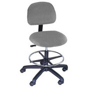 Standard Stool Pneumatic Height Adjustment, Fabric, Gray