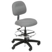 ESD Stool with Pneumatic Height Adjustment, Gray