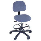 Clean Room Stool Pneumatic Height Adjustment, Blue