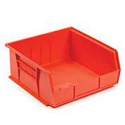 "Plastic Stacking Bin, 16-1/2""W x 10-7/8""D x 5""H, Red - Pkg Qty 6"