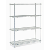 "Chrome Wire Shelving, 42""W X 18""D x 63""H"