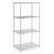 "Chrome Wire Shelving, 24""W X 14""D x 74""H"
