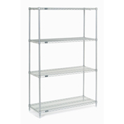 "Chrome Wire Shelving, 42""W X 18""D x 86""H"