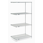 "Chrome Wire Shelving Add-On, 30""W X 24""D x 86""H"