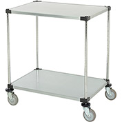 "Adjustable Solid Galvanized Shelf Cart, 2 Shelves, 800 Lb. Cap, 36""L x 24""W x 40""H"