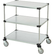 "Adjustable Solid Galvanized Shelf Cart, 3 Shelves, 800 Lb. Cap, 36""L x 24""W x 40""H"