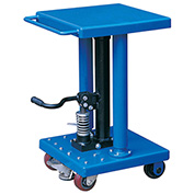 "Work Positioning Post Lift Table with Foot Control, 18""x18"" Platform, 500 Lb. Capacity"