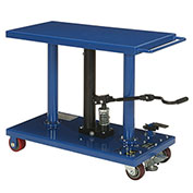 Foot Control Work Positioning Post Lift Table, 1000 Lb. Cap