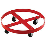Steel Drum Dolly for 30 Gallon Drum, Rubber Wheels 600 Lb. Capacity