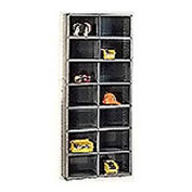 14 Compartment Steel Storage Bin Cabinet with Plastic Dividers, 36x18x85