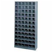 Steel Storage Bin Cabinet, 24 Compartments, 36x12x39